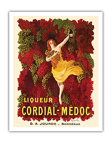 Pacifica Island Art Liqueur Cordial-Médoc - French Wine - G. A. Jourde Winemakers Bordeaux France - Vintage Advertising Poster by Leonetto Cappiello c.1907 - Fine Art Print - 11in x 14in ()