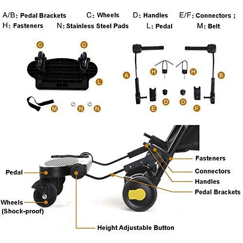 Zerlar Universal Ride-On Stroller Board Stroller Connectors by Zerlar (Image #4)