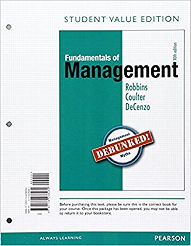 Fundamentals of Management, Student Value Edition Plus 2017 MyLab Management with Pearson eText -- Access Card Package (