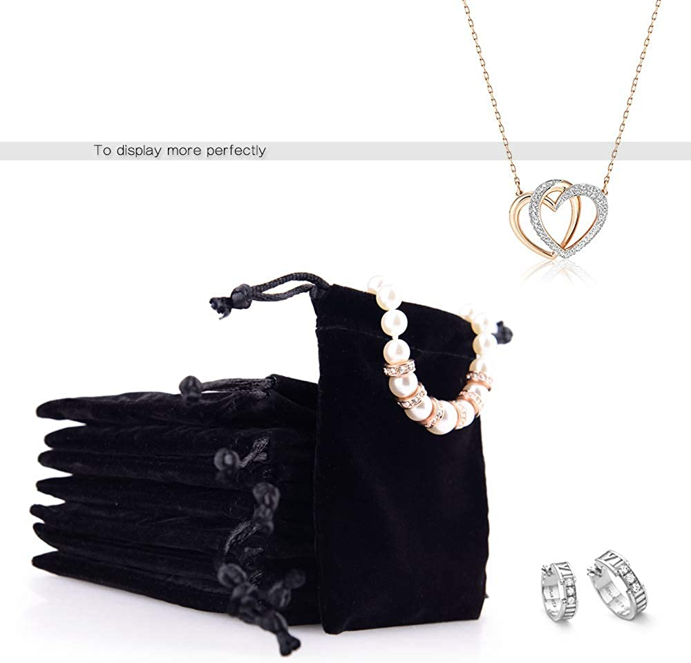 Oirlv 50 PCS Velvet Jewelry Pourches Litter Jewelry Bags for Jewellery