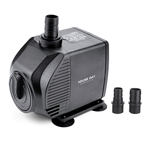 HOUSE DAY 55W Adjustable Flow Garden Submersible Water Pump For Aquarium, Fish Tank, Fountain, Pond, Hydroponics