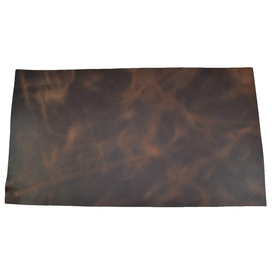Leather Square (10''x18'') for Crafts/Tooling/Hobby Workshop, Medium Weight (1.8mm) by Hide & Drink :: Bourbon Brown