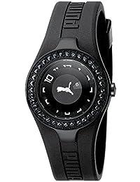 Puma Women's PU101122005 Black Polyurethane Quartz Watch with Black Dial