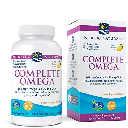 Nordic Naturals - Complete Omega, Supports Healthy Skin, Joints, and Cognition, 120 Soft Gels (FFP) (Dha 9 3 6 Omega)