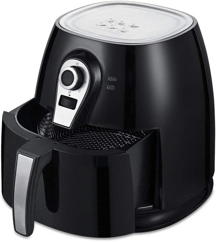 U Drive Auto Electric Air Fryer,3.8 QT Oilless Low Fat Multi Cooker with Non Stick and Detachable Basket with Timer and Temperature Control Black