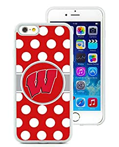 Ncaa Big Ten Conference Football Wisconsin Badgers 6 White Unique iPhone 6 4.7 TPU Phone Case