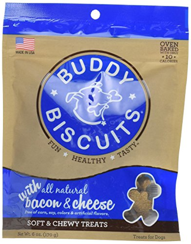Cloud Star Buddy Biscuits Soft & Chewy Dog Treats with All Natural Bacon & Cheese 6 oz 1 Pack