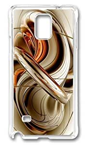 MOKSHOP Uncommon Brown Orange Shades 3d Fractal Art Hard Case Protective Shell Cell Phone Cover For Samsung Galaxy Note 4 - PC Transparent
