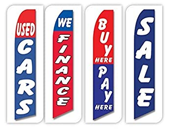 Buy Here Pay Here Cars >> Used Cars Flag Windless Swooper 4 Lot Set Auto We Finance Buy Here Pay Here Sale
