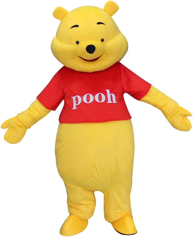 New Adult Size Cartoon Movie Mascot Costume Winnie the Pooh Bear Halloween USA