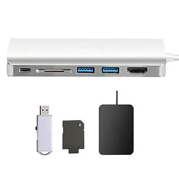 Tipo-C 3.1 a HDMI Tarjeta SD USB 3.0 + Lector de Puerto de ...