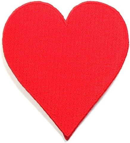 【ノーブランド品】アイロンワッペン ワッペン キュート・ハート 刺繍ワッペン アイロンで貼れるワッペン