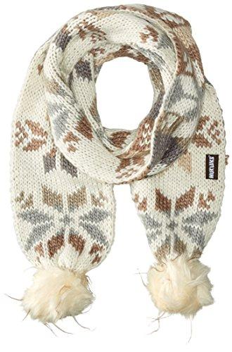 Muk Luks Women's Snowflake Pom Scarf, Ivory, One Size