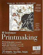 Pro-Art Strathmore blok papieru do drukowania 20 x 25 cm, 20 arkuszy, biały, 20 x 25 cm