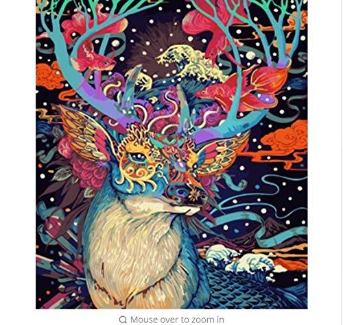 LIWEIXKY Bild Malerei by Zahlen Abstrakt Tier DIY Ölgemälde Auf Leinwand Dekoration Für Wohnzimmer - Rahmenlos - 40x50cm B07PN13SNT   Jeder beschriebene Artikel ist verfügbar