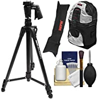 Sunpak 61 Ultra 6000PG PlatinumPlus Tripod with Pistol Grip Ball Head with Case + Backpack + Cleaning Kit