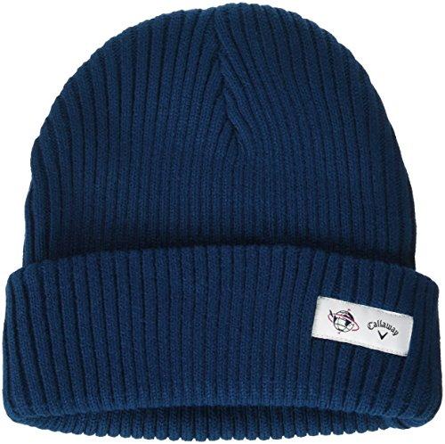 (キャロウェイアパレル) Callaway Apparel BASIC 単色カラー リブニット帽 (ワンポイントロゴ入り) 【 241-6284514 】[メンズ]