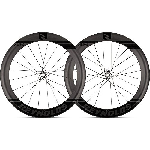 Reynolds Cycling Aero 65 Disc Brake Carbon Fiber Wheelset for Road Bikes, Shimano Compatible (Wheels Reynolds Bike)