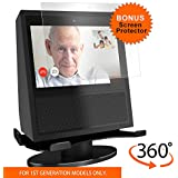 andColors Premium Stand for 1st gen. Echo Show. Convenient 360 Degree Rotation with Smooth Precision Ball Bearings. Screen Protector. Stable & Sturdy with Non-Scratch Surface.(Black)