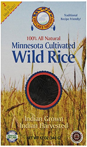 Red Lake Nation 100% All Natural Minnesota Cultivated Wild Rice, 12 - Rice Wild Minnesota