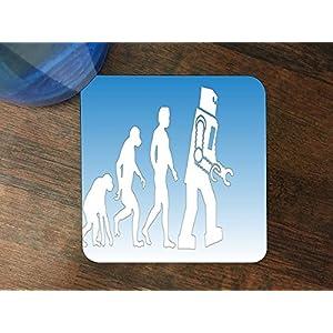 Robot Evolve Silicone Drink Beverage Coaster 4 Pack