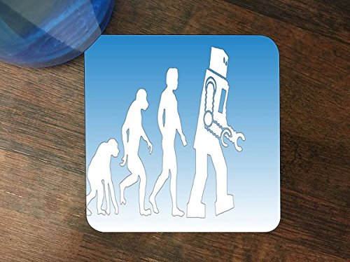- Robot Evolve Silicone Drink Beverage Coaster 4 Pack