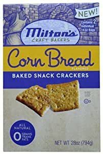 Milton's Corn Bread Flavored Baked Snack Crackers 28oz.