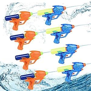 Herefun Pistola de Agua Pequeña, 8Pcs Pistola de Agua Verano Juguetes de Agua, Pistola de Agua Juguete, Piscina Juguetes Niños para Jardín Verano Piscina Playa Juego al Aire Libre (8Pcs)