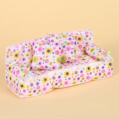 Lsv-8 20 x 7.5 x 8cm Wei  Hintergrund Bunt Blumen Aufdruck Couch Sofa Für  Barbie Miniatur M bel+ 2 Stück 6 x 6cm Kissen  Amazon.de  Küche   Haushalt a2822e5439