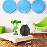 oobest Essential Oil Diffuser 300ml Ultrasonic Cool Mist Humidifier/Wood Grain Air Humidifiers with 7 Color Changing LED Light and Waterless Auto Shut-Off Yoga-Light