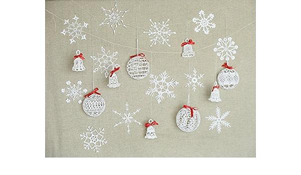 Crochet Christmas Ornament set of 6 Crochet  Christmas Ornament,Christmas Tree Decoration,Crochet Christmas Decoration,Christmas Gift