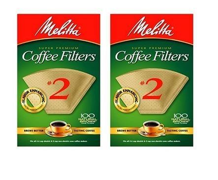 - Melitta CECOMINOD050194 622752 100CT #2 BRN Filter, 2 Pack, 2 Natural Brown