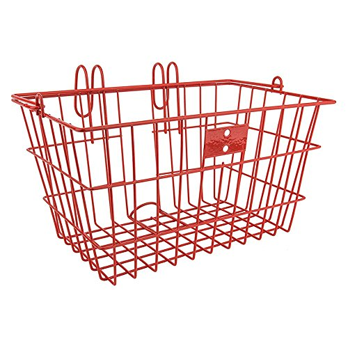 Sunlite Wire Lift-Off Front Basket, Red