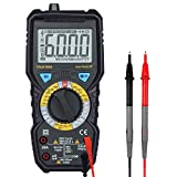 Digital Multimeter, GoerTek Auto Ranging Multimeter TRUE RMS 6000 Counts Multi Tester with Backlight LCD Display, Measuring Current, AC/DC Voltage, Frequency, Resistance, Capacitance, Diode, Continuit
