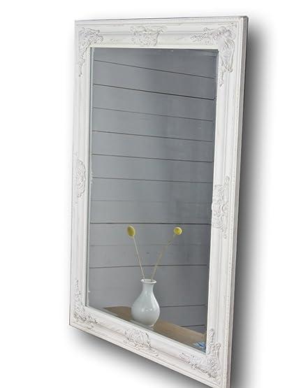 Specchio da parete Oro Bianco Argento Cornice di legno, Legno ...