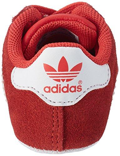 adidas Gazelle, Zapatillas Unisex Niños Rojo (Core Red/ftwr White/gold Metallic)