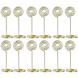 #7: Artliving 12pcs Place Card Holder Memo Holder Clip Photo Holder Table Number Holder Round Shape Gold