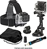 Sunpak 5 Piece Accessory Kit - Head Mount, Suction Cup Mount, Tripod Mount with Lens Pen Cleaner & Storage Pouch for GoPro Cameras