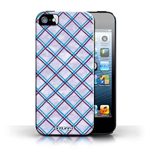 Etui / Coque pour Apple iPhone 5/5S / Bleu/Violet conception / Collection de Motif Entrecroisé