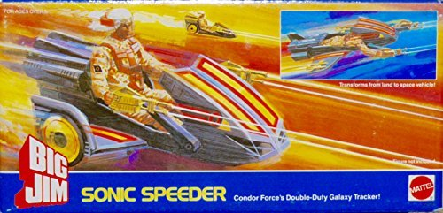 Vintage Big Jim Sonic Speeder  - Rare