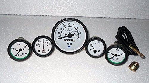 Willys Jeep MB GPW CJ Gauges Kit - Speedometer MPH/KPH+Temp+Oil+ Fuel+ Amp (Jeep Willys Fuel Gauge)