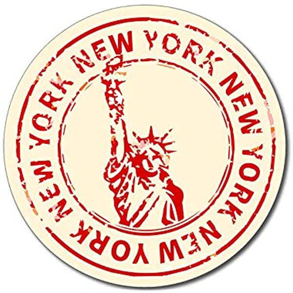 Vintage Bumper Lady American Vinyl New York NY Statue of Liberty Bumper Sticker