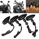 INNOGLOW Motorcycle 4PCS LED Black Lamp Rear Turn Signal Lights Bulb Blinker Indicators Smoke Lens for Honda Suzuki Yamaha Kawasaki Harley Davidson