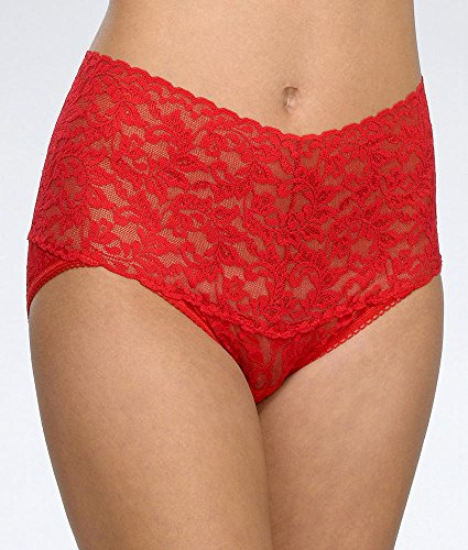 Hanky Panky Signature Lace Retro V-kini Plus Size, 2X, Red