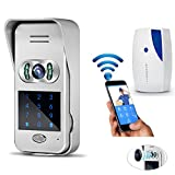 Wireless Doorbell, NOPTEG 720P WiFi Video IR Camera Door Phone Visual Intercom Door Bell Night Version, Unlock Function for Android IOS