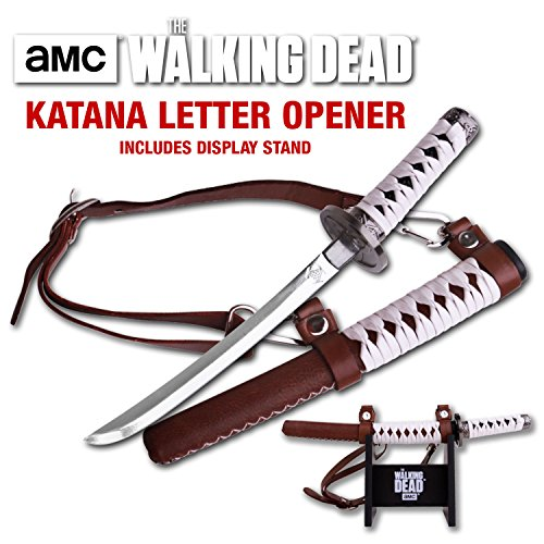 Walking Dead Official Katana Letter Opener with Display Stand by Walking Dead
