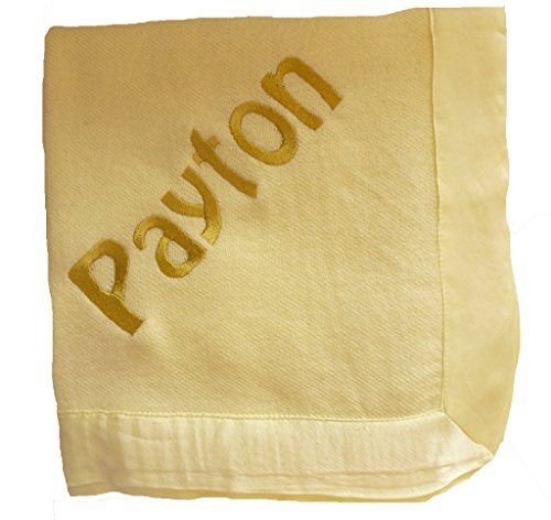 Custom Embroidered Personalized 100% Three Ply Cashmere Baby Blanket by Initial  Impressions