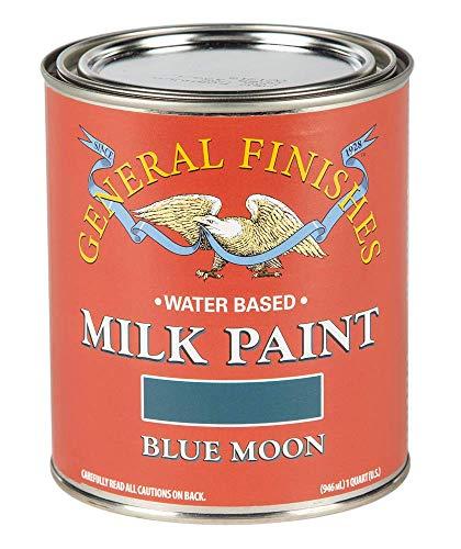 General Finishes QBM Water Based Milk Paint, 1 Quart, Blue Moon