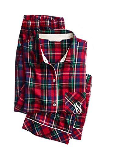 Victoria's Secret The Mayfair Pajama Set long sleeve Plaid Small