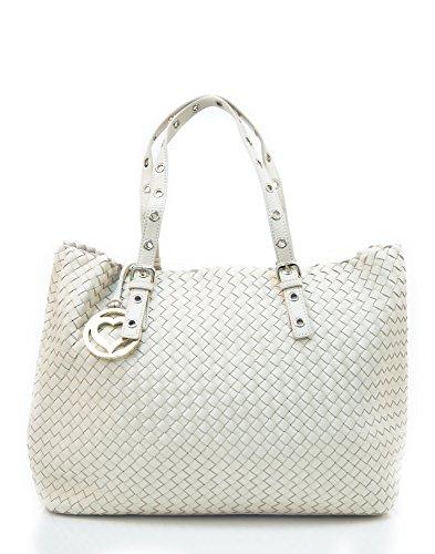 Grandes Ofertas 100% Auténtico Línea Barata TWIN-SET Tote bag / Borsa shopping Pelle sintetica Donna Avorio Real Resistencia Al Desgaste TWzbfna9p